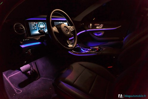 Ambiance nuit Mercedes Classe E