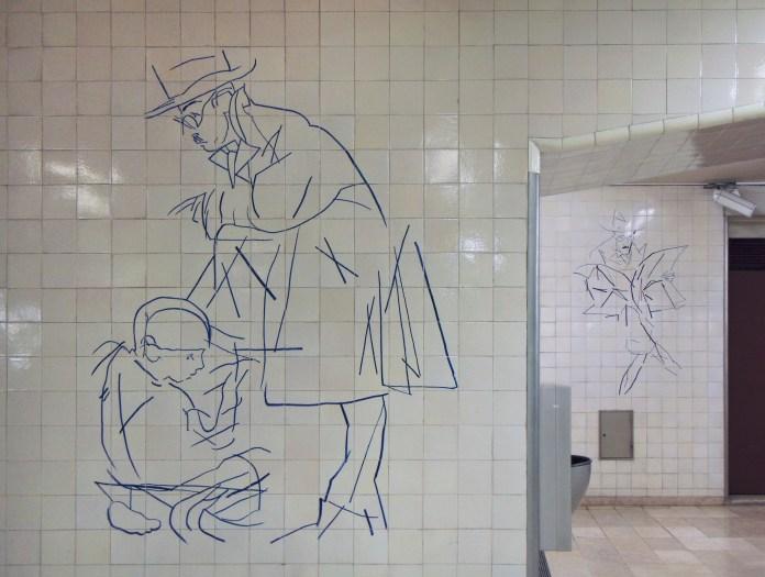Júlio Pomar (1926), Lisboa, Metropolitano de Lisboa, Estação Alto dos Moinhos, 1988