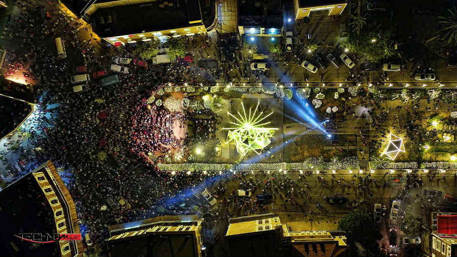 Jbeil Byblos Unveils Its Christmas Tree And Its Even