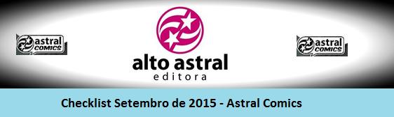 Checklist Setembro de 2015 – Editora Astral Comics