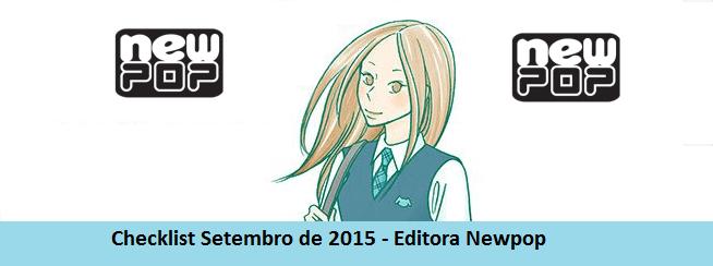 Checklist Setembro de 2015 – Editora Newpop