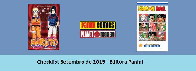 Checklist Setembro de 2015 – Editora Panini