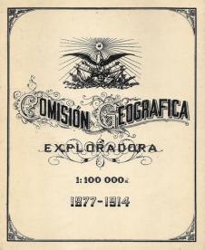 Portada del libro de la Comisión Geográfica-Exploradora