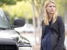 """A personagem de Claire Danes não a acompanhou na série. A atriz de """"Homeland"""" teve de esconder a barriga."""