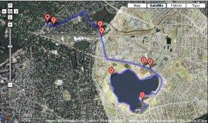 Seven Mile Run from Belmont Center around Fresh Pond