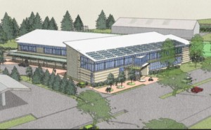 The proposed Belmont Public Library
