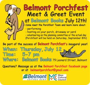 Porchfest Belmont Books Meet and Greet