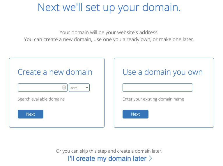 how to start a blog with bluehost - set up your domain