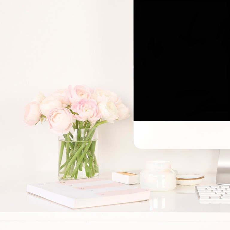 flowers with an imac