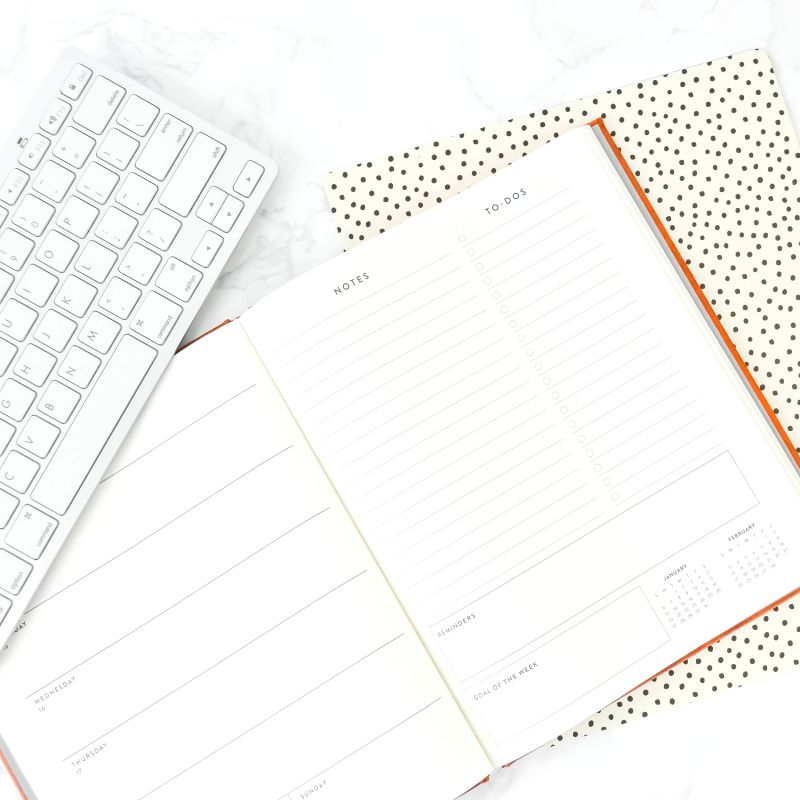 planner with keyboard