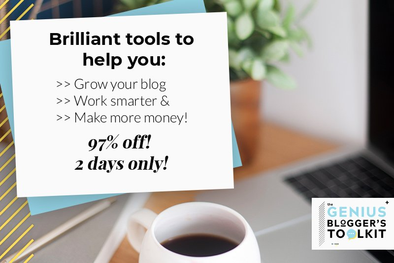 grow your blog with genius blogger's toolkit
