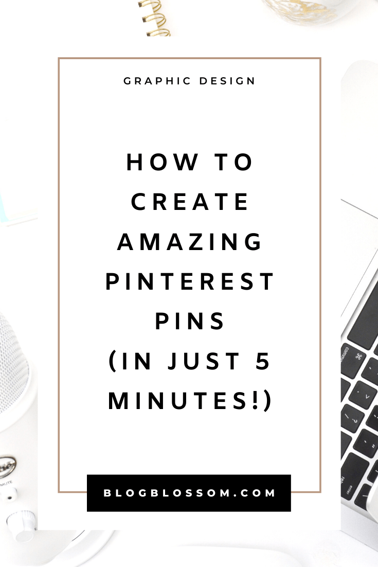 Pinterest is a great platform to drive traffic.  Need help creating pretty, eye-catching pins to drive traffic to your blog or sales to your online business? Don't fret if you don't have any experience with graphic design. In this post, I'll be teaching you how you can create your own beautiful pin designs in just 5 minutes. | pinterest tips | pinterest marketing | social media marketing | grow your blog traffic | pinterest for beginners | pinterest design