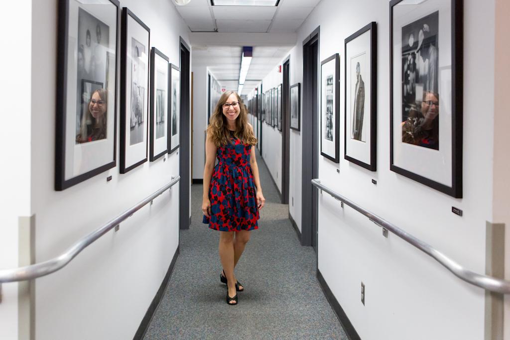 Rachel Reynolds, Music Publicity Director umgeben von den Stars © Andrea Vollmer & Michael Kuchinke-Hofer