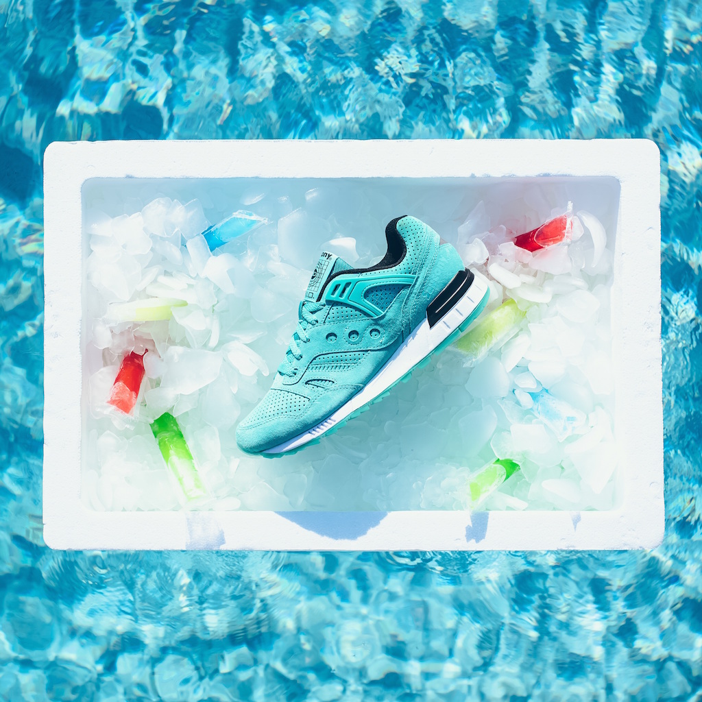 Saucony Originals Grid SD Premium Suede Popsicle Flavor Ice