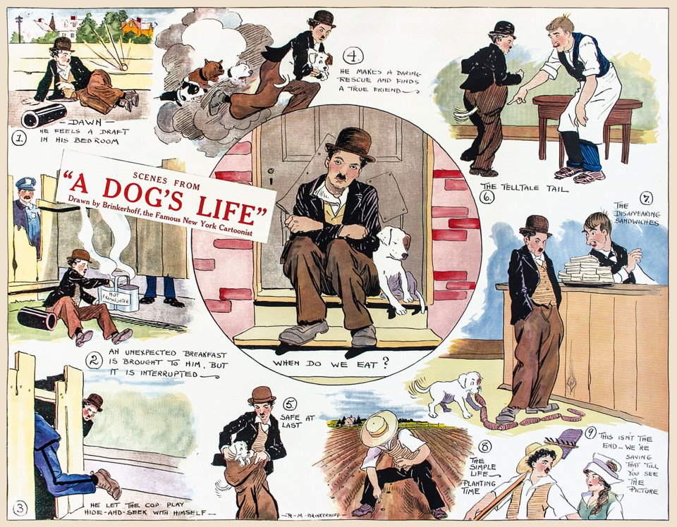 """A Dog's Life"" (1918) als Comic Strip. Copyright: (c) Roy Export Company Establishment"