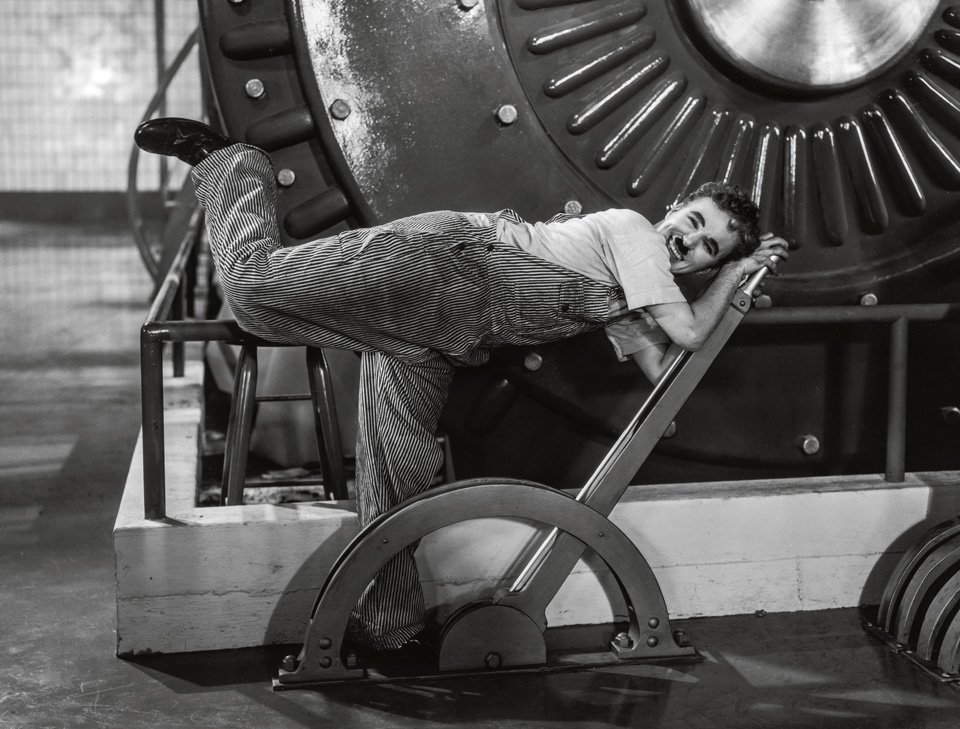 "Gefangen im System - Charlie Chaplin in ""Modern Times"" Copyright: (c) Roy Export Company Establishment"