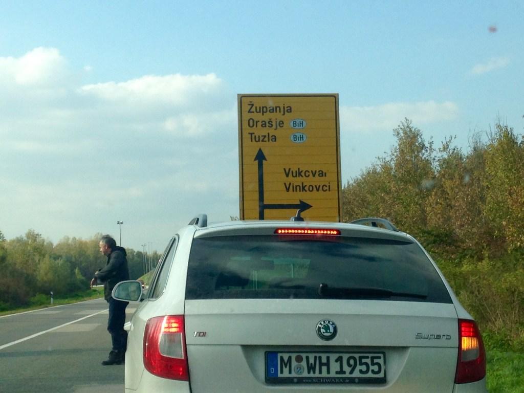 Der Konvoi auf dem Weg (Foto: Mathias Junkert)