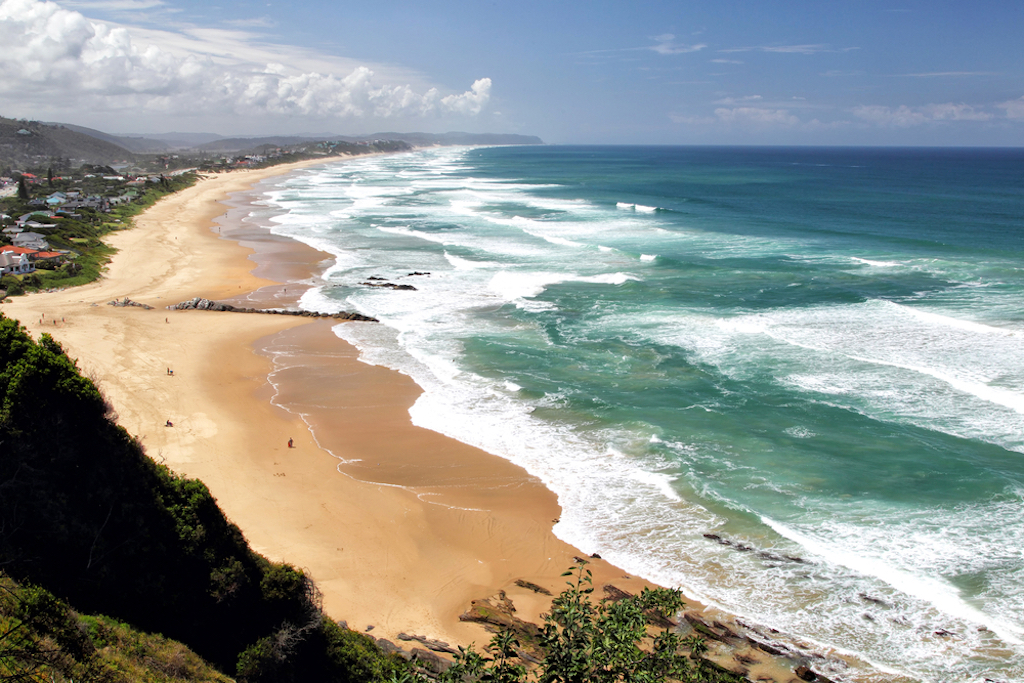 Beach of Wilderness at the Garden Route in South Africa