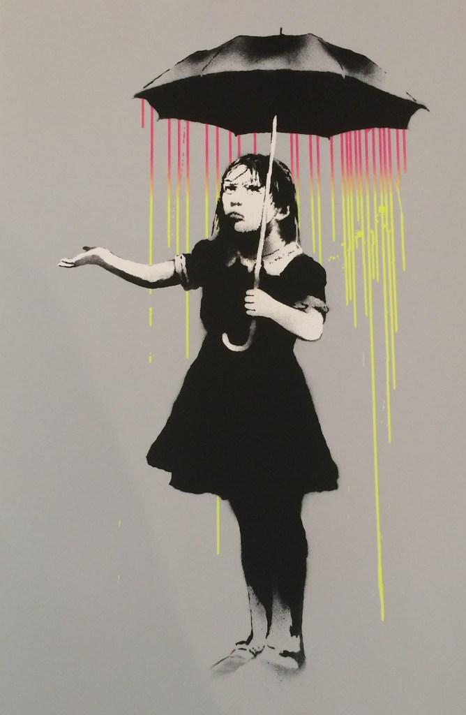 © Banksy Nola Pink to Yellow Rain