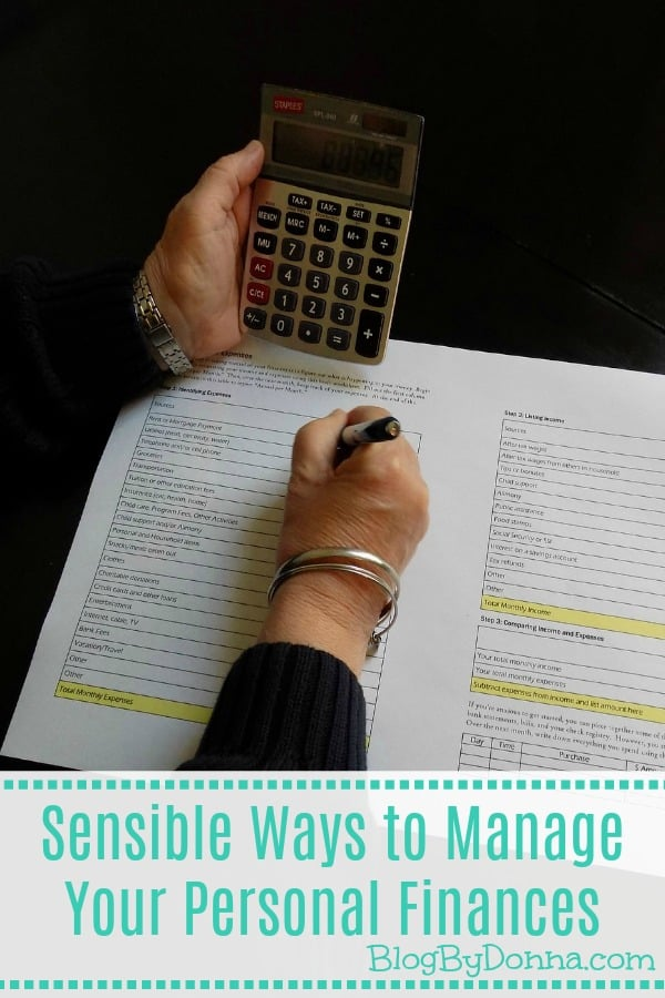 Sensible Ways To Manage Your Personal Finances Blog By