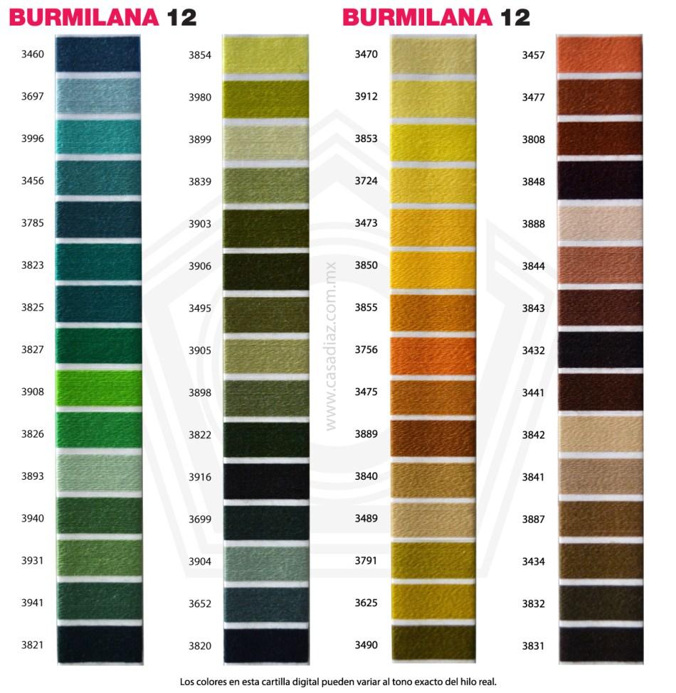 Carta de Colores Burmilana 12