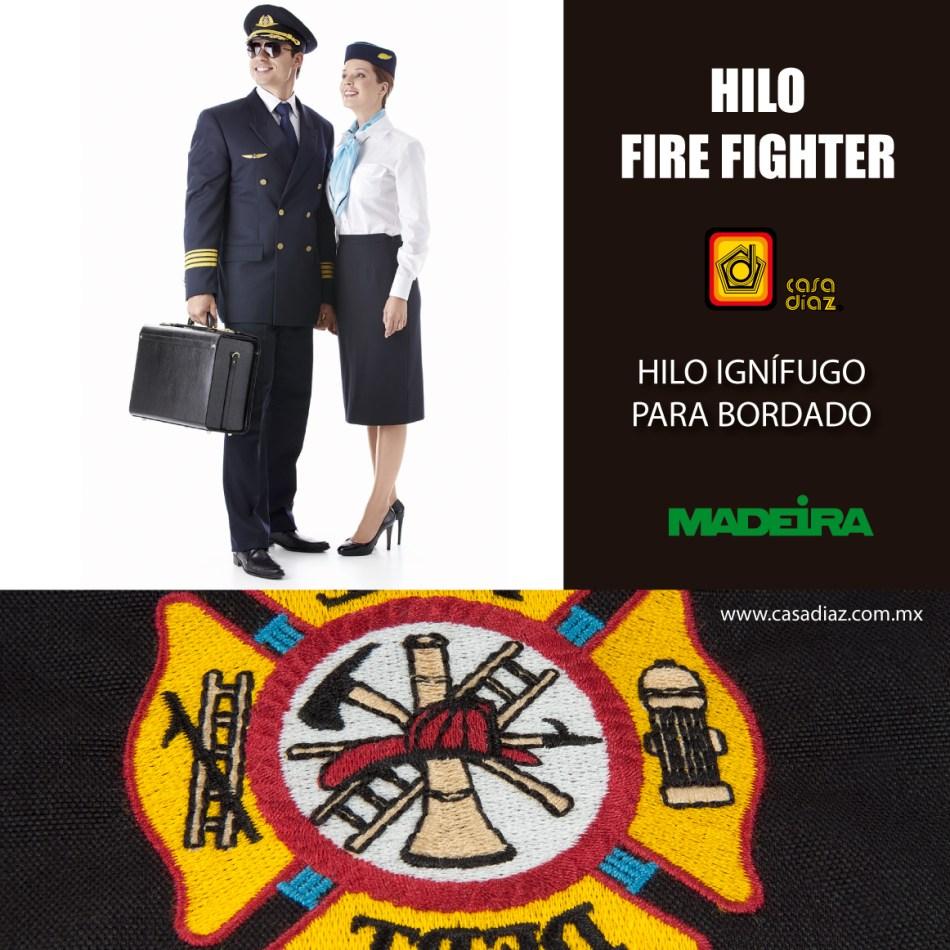 Hilo Fire Fighter para bordado a máquina