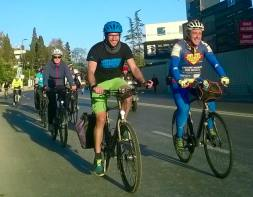 Cycling with Super Cycling Man