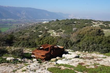 kurz vor Haifa und Mt. Camel
