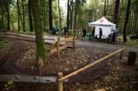 Start des Flowtrails am Parkplatz Windeck