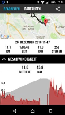 Elemnt - Tour Auswertung