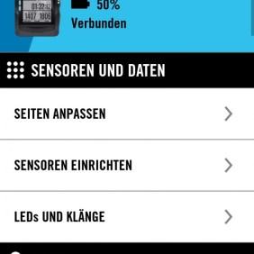 TICKR Sensor einrichten über App