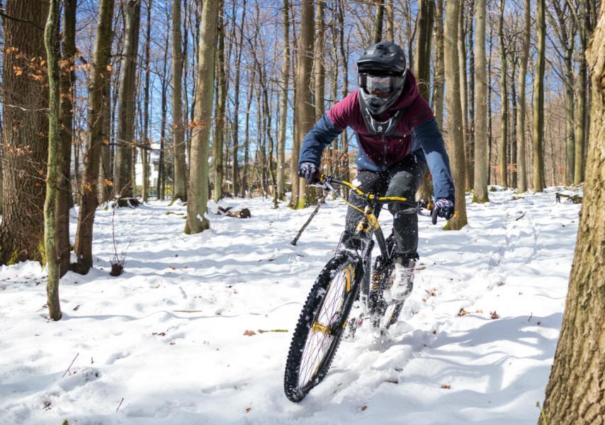Schnee Session mit dem Air Brace