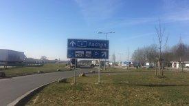 Auf dem Weg nach Belgien