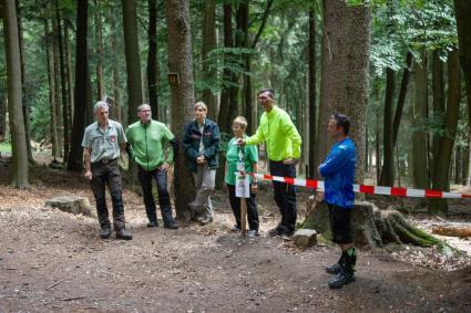 von links: Herr Brunner, Herr Brandt, Frau Dr. Baumann, Frau Link, Sven Stockmann, Sebastian Kammerer