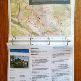 Lifehotel Serfaus - Unterlagen mit Bikestrecken-Infos auf jedem Zimmer