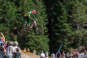 Die Legende Greg Minaar beim Zielsprung