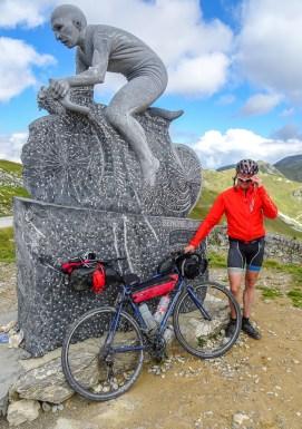 Pantani-Monument am Colle dei Morti