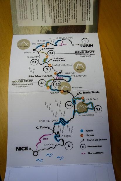 Die Streckenkarte