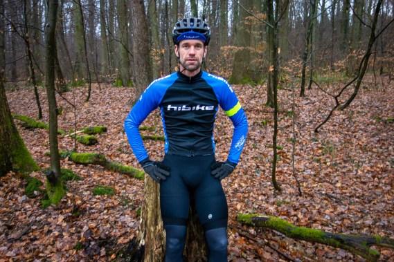 Die Beine der Bib-Shorts sind mit einem Kompressionsgewebe versehen, welches Aaron sofort positiv aufgefallen ist.