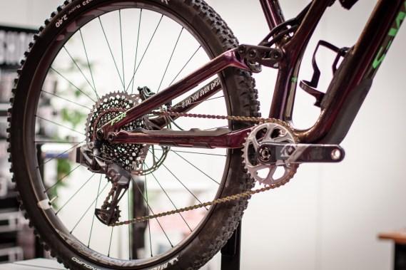 Gefunkte 12-Gangschaltung am Mountainbike - ein echtes Novum.