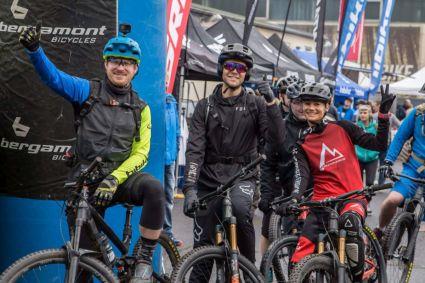 Eric, Julia und Laurenz beim Hibike Testival 2019