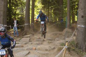 Trainingslauf beim IXS Downhill Cup in Winterberg 2018