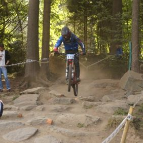 Trainingslauf beim IXS Downhill Cup in Winterberg 2018