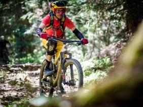 Nicht nur bergab lässt es das Hightower krachen. Tretpassagen meistert das neue 29er-Trailbike ebenso gut.