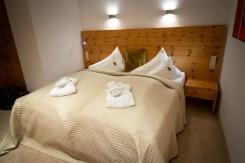 Kuschelig und warm sind die Betten im Alpen Comfort-Hotel Central