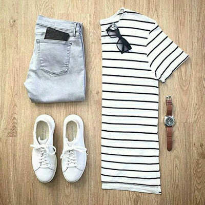 Bermuda, tênis e camiseta ♥