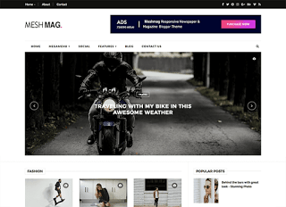 Blogger Templates 2018 , MeshMag Responsive Blogger Template