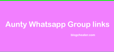 Aunty Whatsapp Group Link 2018