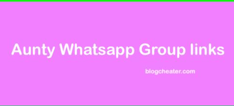 Aunty whatsapp group links
