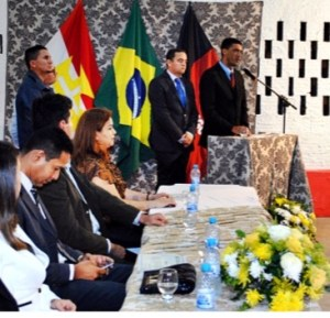Prefeito Tiaago lisboa - PSDB e seu vice Herivelton - PV. Fonte: PBVALE